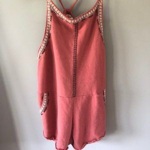 Free People FP One Embroidered Short Overalls, XS